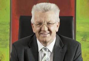 Schirmherr der Europa Minigärtner: Winfried Kretschmann, Ministerpräsident von Baden-Württemberg